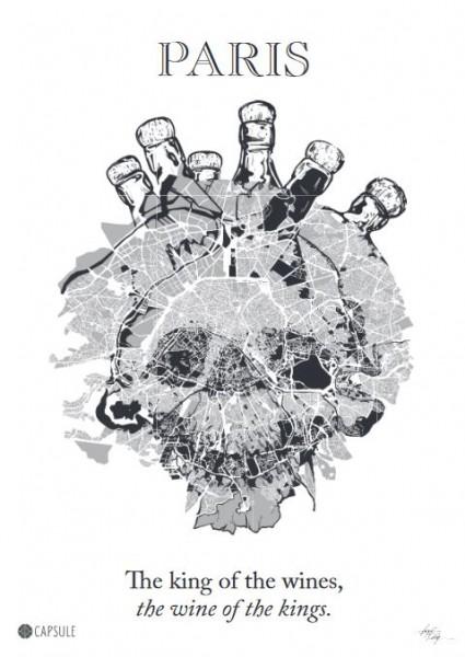 Poster 4 - Paris Skull